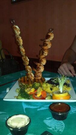 Turtle Island: Shrimp skewers