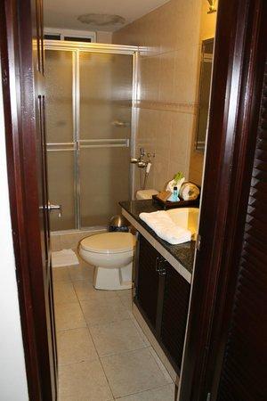 "Avila Hotel Panama: Shower, ""shower door didn't work very well."""