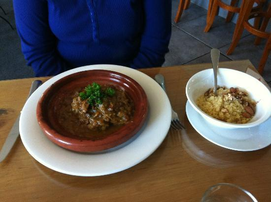L'amour de Kasbah: Lamb Tangine and Coscos for lunch.divine....$15