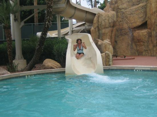 Sheraton Crescent Hotel: The slide is fun for everyone.