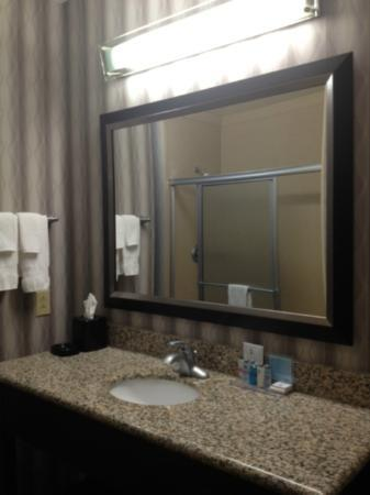 Hampton Inn Jackson- Flowood: bathroom mirror
