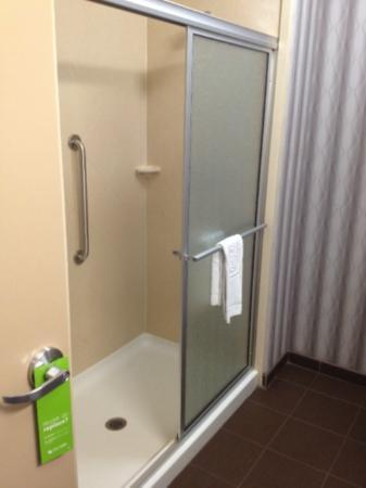 Hampton Inn Jackson- Flowood: large shower