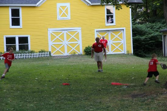 Baseball Bed and Breakfast: great yard for a wiffle ball game