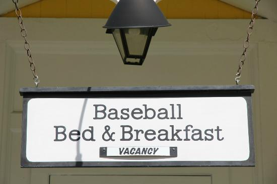 Baseball Bed and Breakfast: welcoming front porch