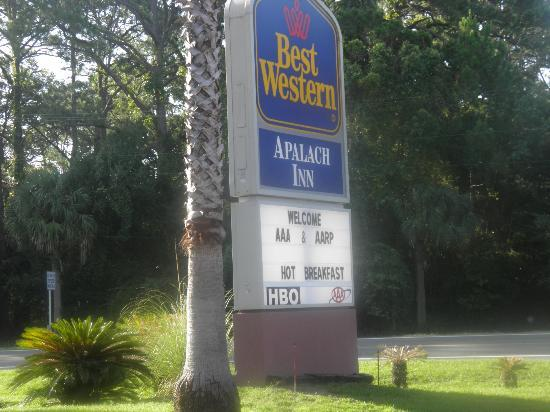 Best Western Apalach Inn: this was the sign out front....only pic I took as we were leaving
