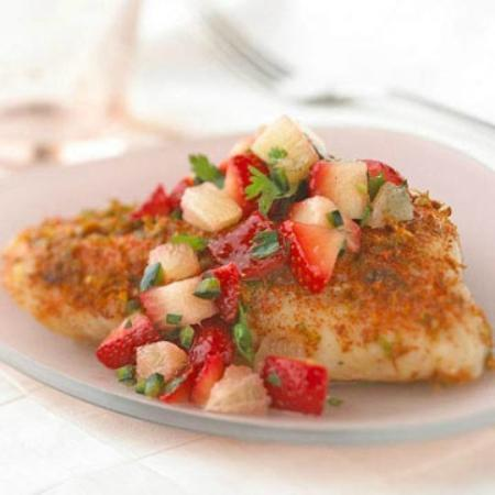 Hiro Sushi: Chilean Sea Bass (Patagonian Toothfish) with Savory Strawberry Salsa