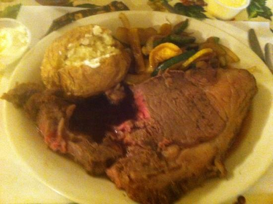 """Ashley Rose Restaurant & Inn: Disgusting! Not only is this badly cooked """"Prime Rib"""", but we ordered 8 oz & were given/charged"""