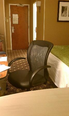 Tysons Corner Marriott: One - nice - office chair and ironing board fills the room TINY room.