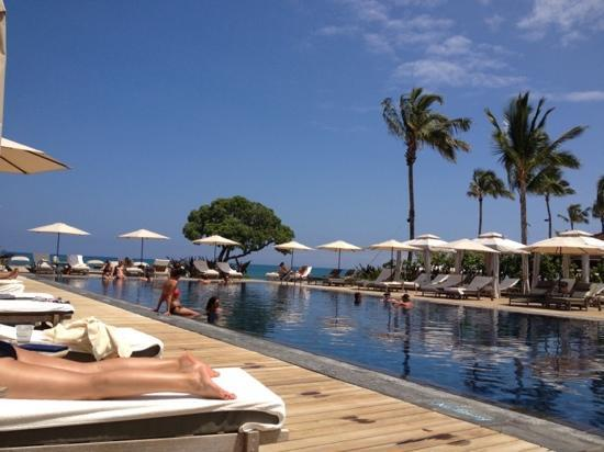 Four Seasons Resort Hualalai Quiet Pool Next To Beach Tree Restaurant
