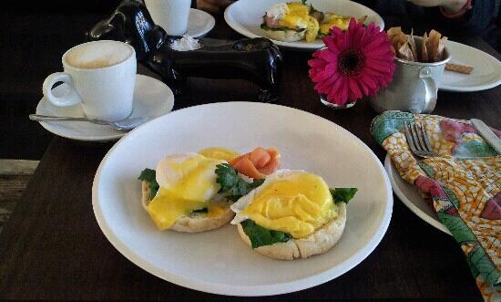 The Concierge Boutique Bungalows: Eggs benedict - one of the breakfast options