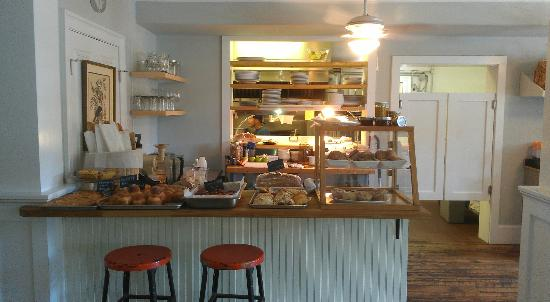 The Red Store: Interior Pastry/Bread Area