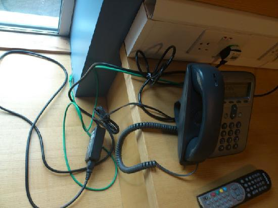 Pollock Halls - Edinburgh First: This the wire clutter created created by a cisco IP phone. Cisco are one of the world's greatest