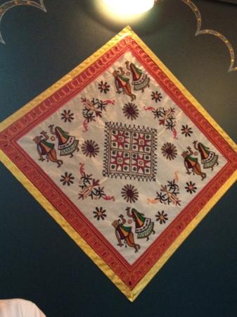 Master of India Restaurant : Beautiful wall hanging