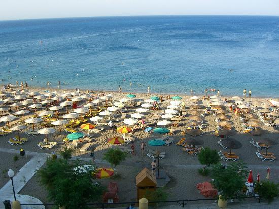 Hotel Mediterranean: Zimmer mit Blick auf den Strand und das Meer vom 4. Stock aus