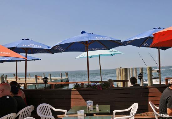 The Island Mermaid: umbrellas on the bay
