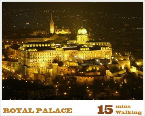 Trendy Budapest B&B Hostel: Royal Palace is 15 mins walking from Trendy Budapest B&B