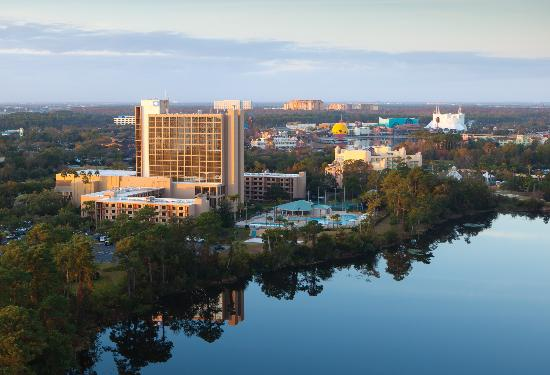 Wyndham Lake Buena Vista Disney Springs Resort Area: Full property view next to Downtown Disney