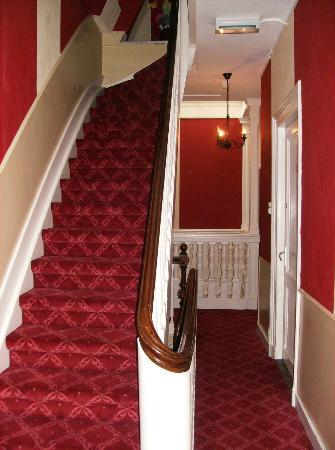 Hotel Rembrandt: Hotelgang og trappe