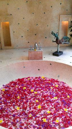 Jamahal Private Resort & Spa: Bath filled with petals on arrival