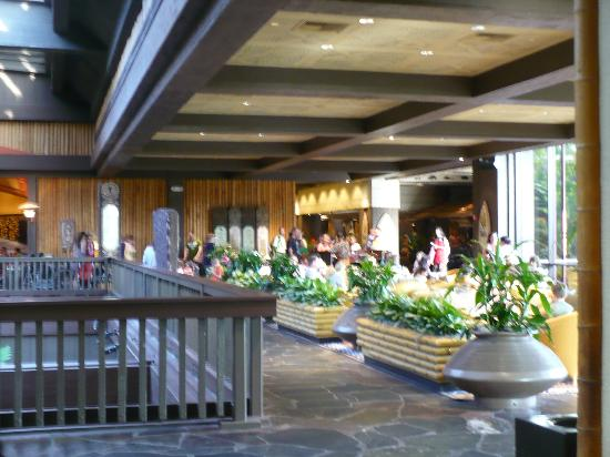 Kona Cafe: Lobby of the Polynesian/Entrance to O'Hana's