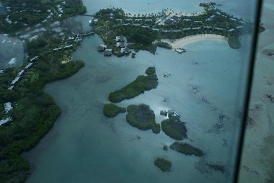 Four Seasons Resort Mauritius at Anahita: a view of resort , taken from our heli tour