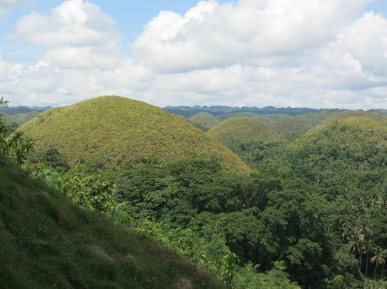 Chocolate Hills: the landscape covering several bohol towns