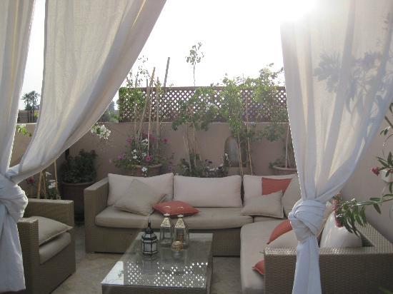 رياض فيفا: Roof Terrace, great quiet place to read a book. 