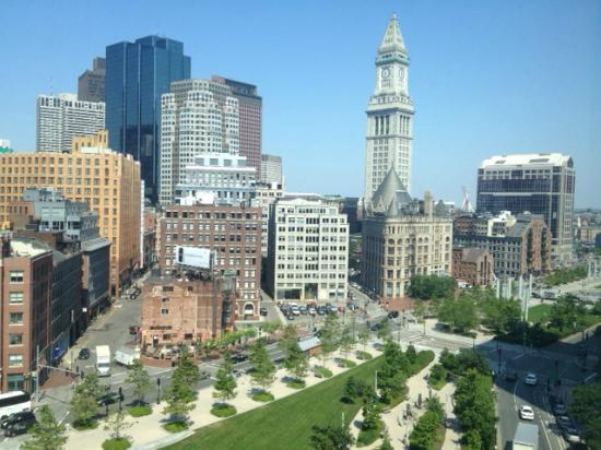 Boston Harbor Hotel: View from suite on 9th floor