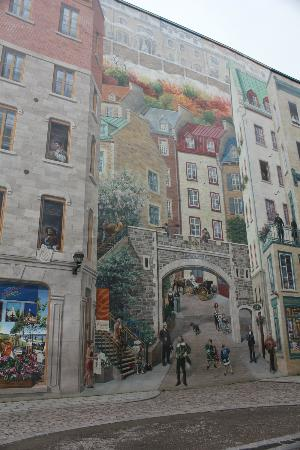 Foto De Lower Town Basse Ville Quebec Giant Wall Painting Life