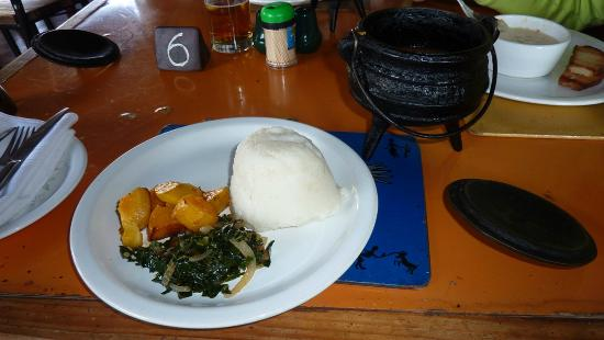 Mama Africa Eating House: My lunch serving! with the Beef Stew.