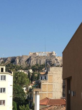 O&B Athens Boutique Hotel: vista acropoli