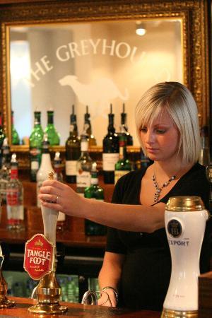 The Greyhound Inn: A beautiful pint of Tanglefoot