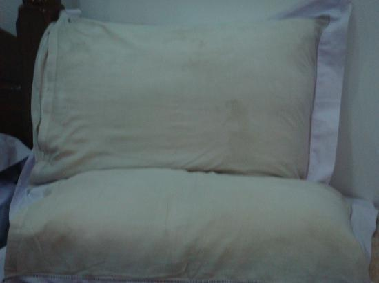 Villa Danialla Beach Resort : mouldy pillows in all rooms