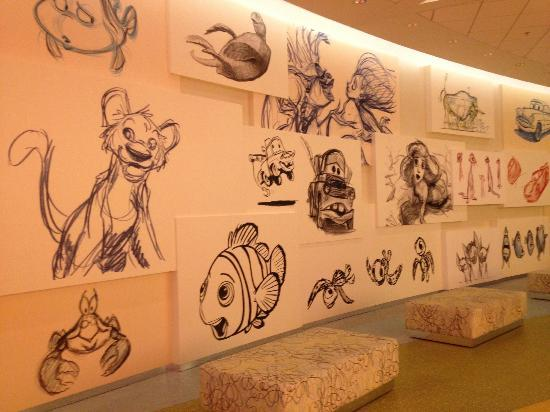 Disney's Art of Animation Resort: Lobby Artwork
