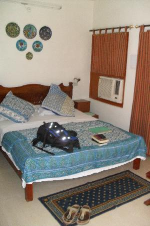 All Seasons Homestay Jaipur: Great room. Spotless, comfy bed, AirCon. Lovely!