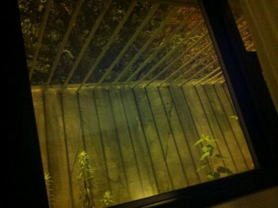 Garden Inn & Suites: bars on window in bedroom