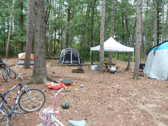 Jellystone Park Warrens: 1st tent camping site