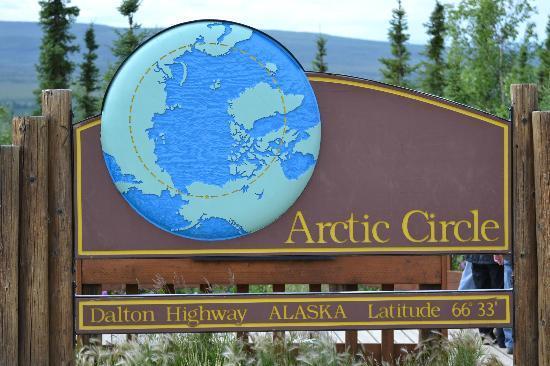 1st Alaska Outdoor School: The Arctic Circle on Dalton Highway in Alaska