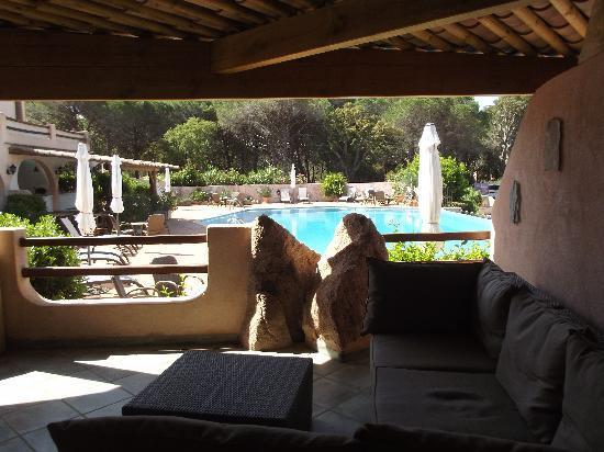 Hotel Palombaggia : terrasse