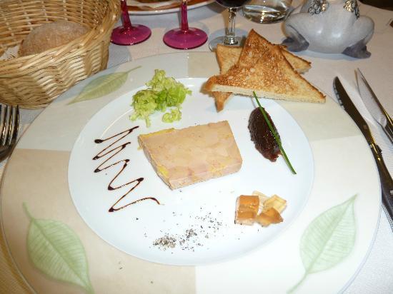 Hotel Restaurant Beau Rivage: Foie gras