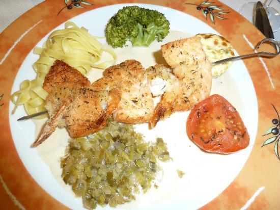 Hotel Restaurant Beau Rivage: Brochette de saumon