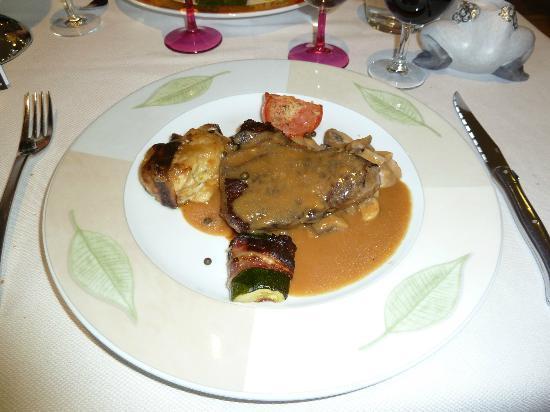 Hotel Restaurant Beau Rivage: Pavé de Rumsteck au poivre vert