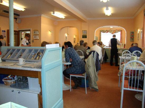 Fields of Sidmouth Coffee Shop: The working area
