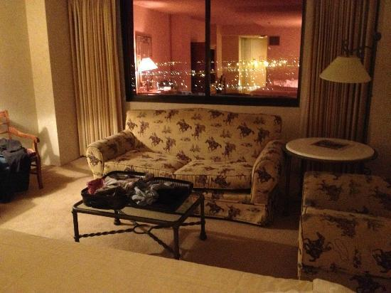 Grand Sierra Resort and Casino: There are great views from the room if you can see past the funky furniture and dirty carpeting