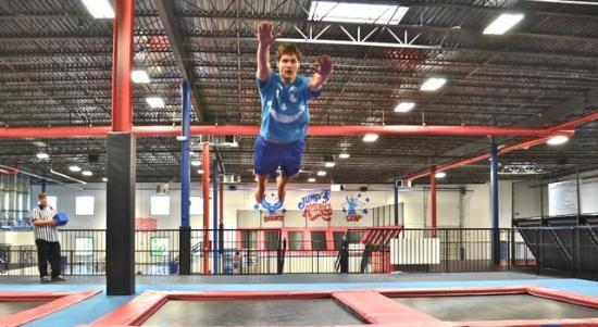 Jump America has 16,000 feet of trampolines and foam pits!