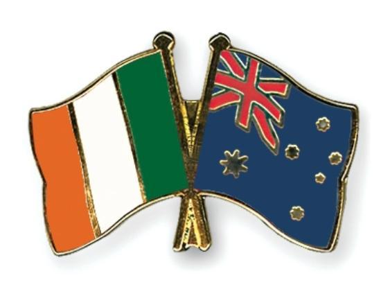 Brogues Downunder: Ireland & Australian Flags