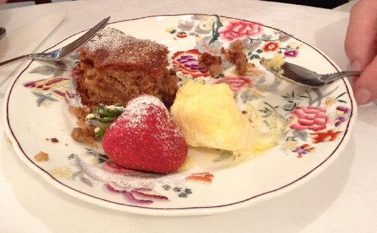 Taylors: Apple Cake, warmed with cream