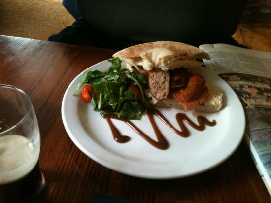 The Heart of Northumberland: Bacon and Sausage Stottie