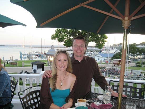 Island House Hotel: My wife and I enjoying our anniversary dinner at the hotel restaurant.