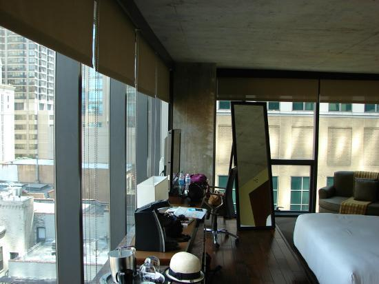 The Corner Suite S Pair Of Floor To Ceiling Windows Looking Out At